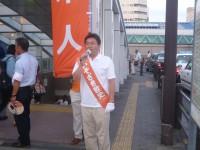 04_街頭演説at湘南台駅前