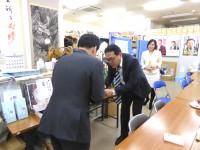 09_笠ひろふみ候補 選挙事務所訪問 (1)