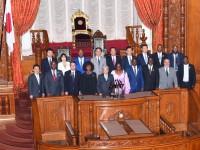 1モザンビーク共和国国民議会議長団 参議院議長表敬 (1)